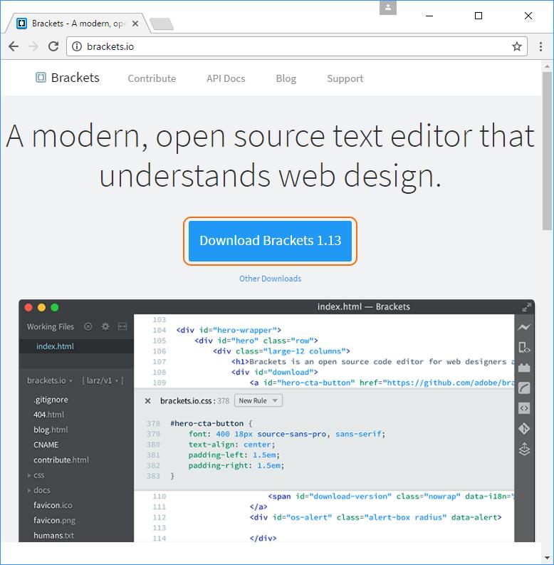 Brackets text editor | PracticalSeries: Web Development
