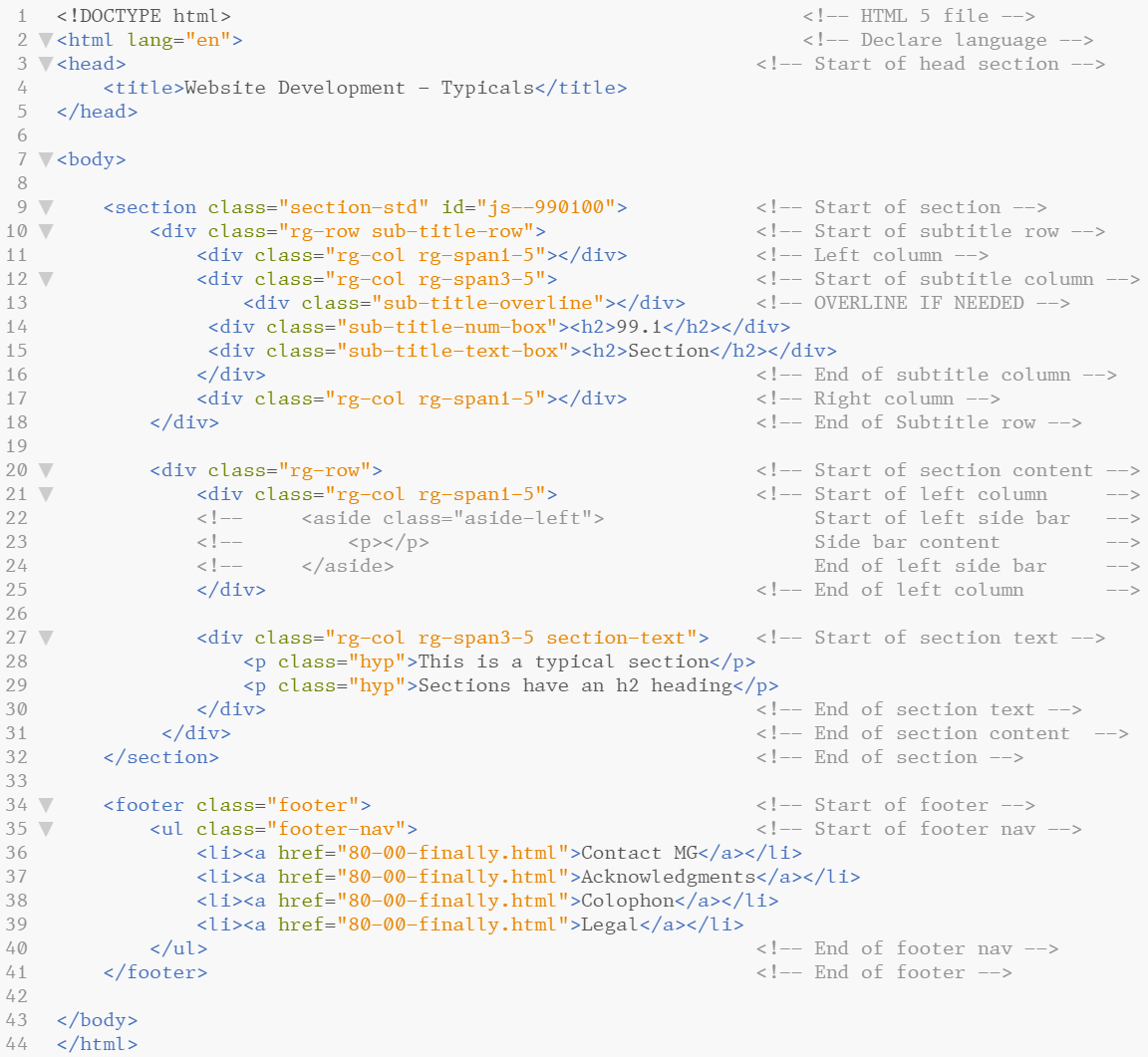 Figure 6.29 - Slightly optimised HTML indentation